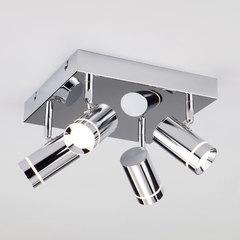 фото Потолочный светодиодный светильник с поворотными плафонами 20064/4 LED хром