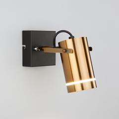 фото Настенный светодиодный светильник с поворотным плафоном 20063/1 LED античная бронза