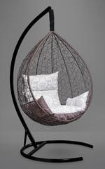 фото Подвесное кресло-кокон SEVILLA ELEGANT коричневое + каркас