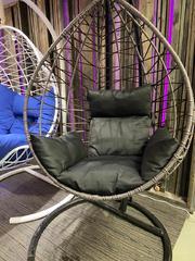 фото Подвесное кресло-кокон ALICANTE Макасар Снежный