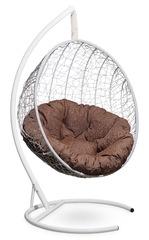 фото Подвесное кресло-кокон MALAGA белое + каркас