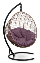 фото Подвесное кресло-кокон MALAGA горячий шоколад + каркас