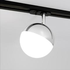 фото Трековый светодиодный светильник для однофазного шинопровода Glob GX53 Хром Glob GX53 Хром (MRL 1015) однофазный