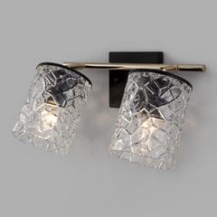фото Настенный светильник с выключателем 20095/2 черный/золото