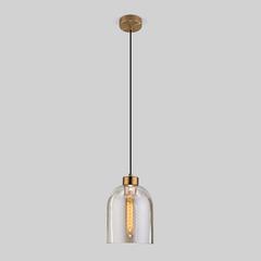 фото Подвесной светильник со стеклянным плафоном 50119/1 латунь