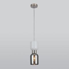 фото Подвесной светильник со стеклянным плафоном 50118/1 никель