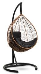 фото Подвесное кресло-кокон SEVILLA COMFORT горячий шоколад + каркас