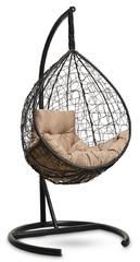 фото Подвесное кресло-кокон SEVILLA COMFORT черное + каркас