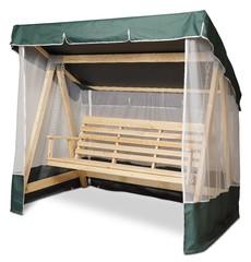 фото Тент-крыша + москитная сетка для деревянных качелей