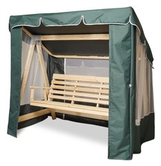 фото Тент-шатер + москитная сетка для деревянных качелей