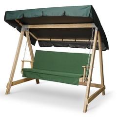 фото Матрас Зеленый для деревянных качелей СЕЛЕНА