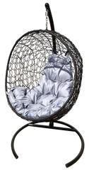 фото Подвесное кресло-кокон ЛУНА РОТАНГ + каркас