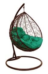 фото Подвесное кресло-кокон  КАПЛЯ РОТАНГ коричневое + каркас