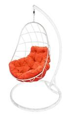 фото Подвесное кресло-кокон ОВАЛ белое + каркас