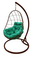 фото Подвесное кресло-кокон ОВАЛ коричневое + каркас