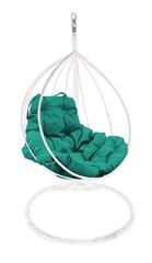 фото Подвесное кресло-кокон  КАПЛЯ белое + каркас
