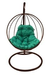 фото Подвесное кресло-кокон КРУГЛОЕ коричневое + каркас