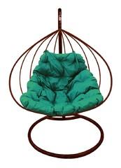 фото Подвесное кресло-кокон ДЛЯ ДВОИХ коричневое + каркас
