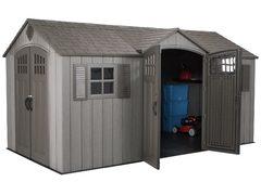 фото Пластиковый сарай - гараж WoodLook 15'x8' (4,5 м х 2,5 м)