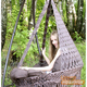 """Фото №5 Подвесное кресло - гамак """"ARENAL"""" с подушками (светло коричневый)"""
