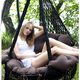 """Фото №2 Подвесное кресло - гамак """"ARENAL"""" с подушками (черный)"""
