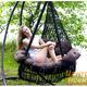 """Фото №4 Подвесное кресло - гамак """"ARENAL"""" с подушками (черный)"""