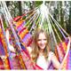 """Фото №2 Кресло - гамак """"Karolina"""" розовый (Колумбия)"""