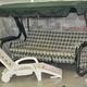 Фото №6 Шезлонг складной пластиковый на колесах с ящиком