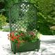 Фото №2 Ящик для растений с шпалерой на колёсах «Калипсо» 37303