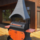 Фото №2 Мангал-коптильня с крышей и столешницами МК-8д