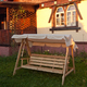 Фото №3 Деревянные садовые качели Ливадия