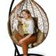 Фото №7 Подвесное кресло-кокон SEVILLA горячий шоколад + каркас