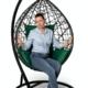 Фото №2 Подвесное кресло-кокон ALICANTE черное + каркас