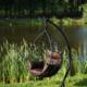 Фото №5 Подвесное кресло-кокон ALICANTE черное + каркас