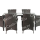 Фото №2 Комплект мебели обеденный Мирисса из искусственного ротанга (коричневый)