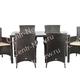 Фото №3 Комплект мебели обеденный Мирисса из искусственного ротанга (коричневый)