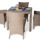 Фото №3 Обеденный комплект с креслами (квадратный стол) КАПРИ
