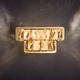 Фото №3 Светодиодный настенный светильник с хрусталем 90059/2 золото