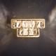 Фото №4 Светодиодный настенный светильник с хрусталем 90059/2 золото