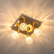 Фото №5 Потолочный светильник с поворотными плафонами 20042/4 золото