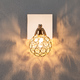 Фото №3 Настенный светильник с хрусталем 20042/1 золото