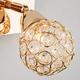 Фото №5 Настенный светильник с хрусталем 20042/1 золото