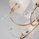 Фото №6 Подвесная люстра с хрусталем 10087/5 золото / прозрачный хрусталь