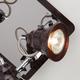 Фото №3 Потолочный светильник с поворотными плафонами 20062/4 хром/венге