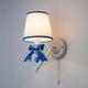 Фото №3 Бра с абажуром 60066/1 белый/синий