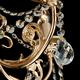 Фото №4 Классическая люстра с хрусталем 10079/5 золото / прозрачный хрусталь