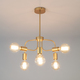 Фото №2 Подвесной светильник в стиле лофт 70058/6 золото