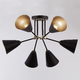 Фото №3 Потолочный светильник с поворотными рожками 70052/6 черный/золото