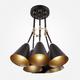 Фото №4 Потолочный светильник с поворотными рожками 70052/6 черный/золото