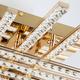 Фото №4 Светодиодный потолочный светильник с хрусталем 90041/8 золото